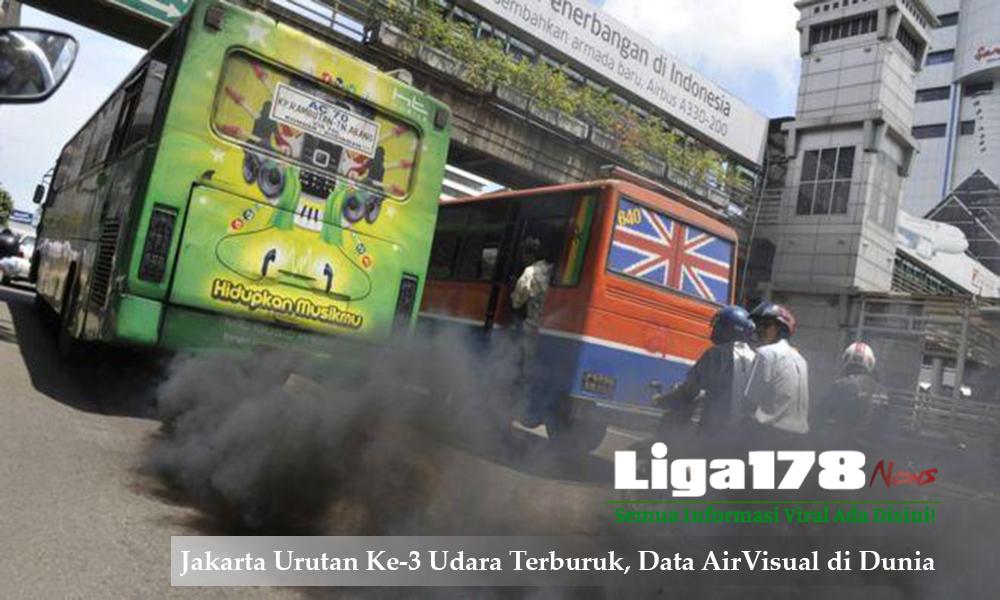 Jakarta Urutan Ke-3 Udara Terburuk, Data AirVisual di Dunia