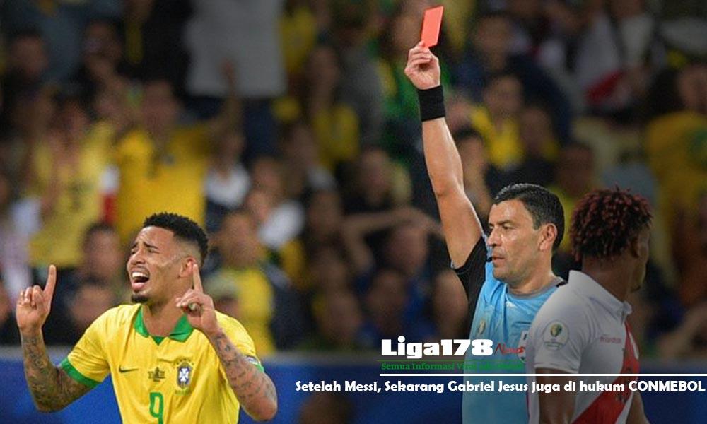 Gabriel Jesus, Messi, CONMEBOL, Copa America, Liga178 News