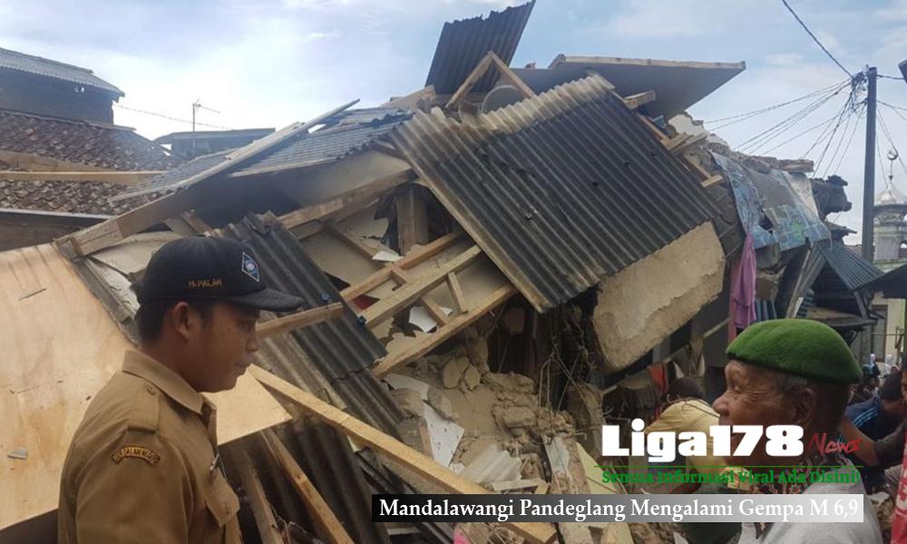 Mandalawangi Pandeglang Mengalami Gempa M 6,9