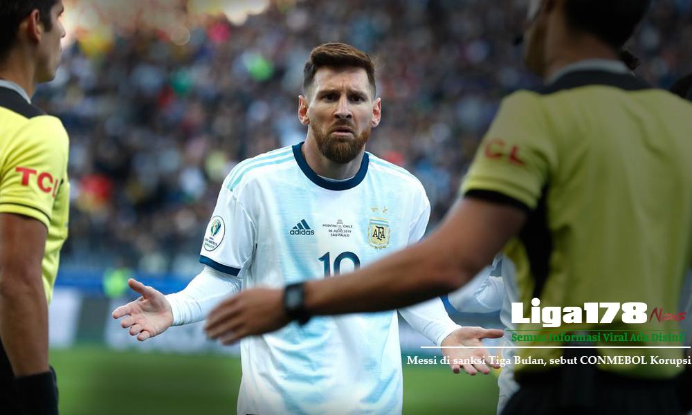 CONMEBOL, Messi, Kartu Merah, Liga178 News