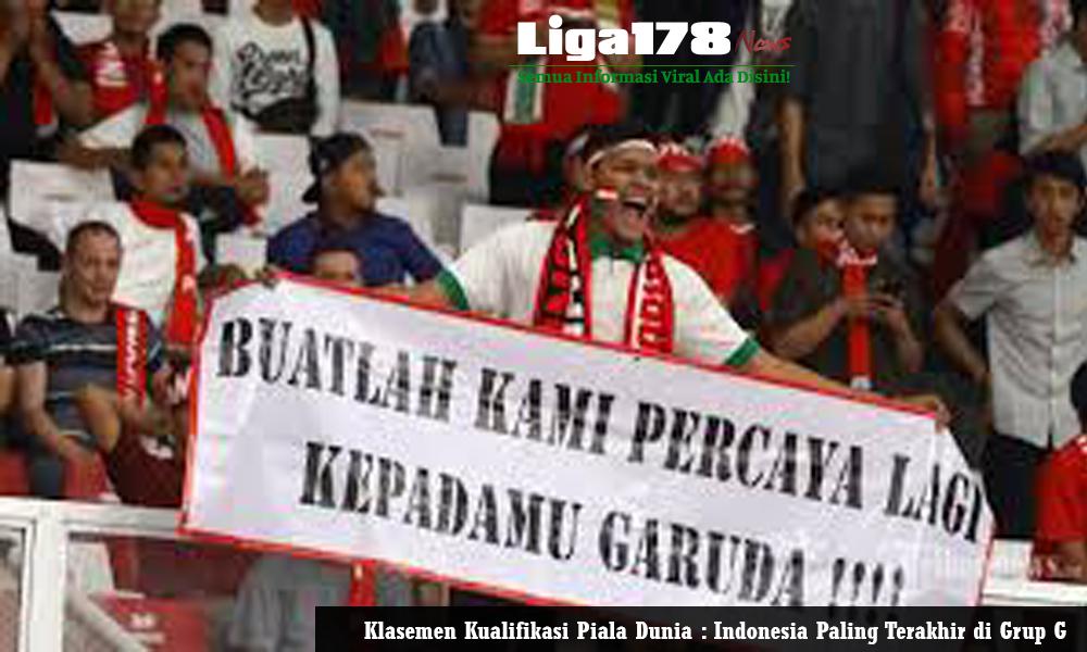 Klasemen Kualifikasi Piala Dunia Indonesia Paling Terakhir Di Grup G Website Berita Terbaru Berita Terkini Berita Harian Liga178 News