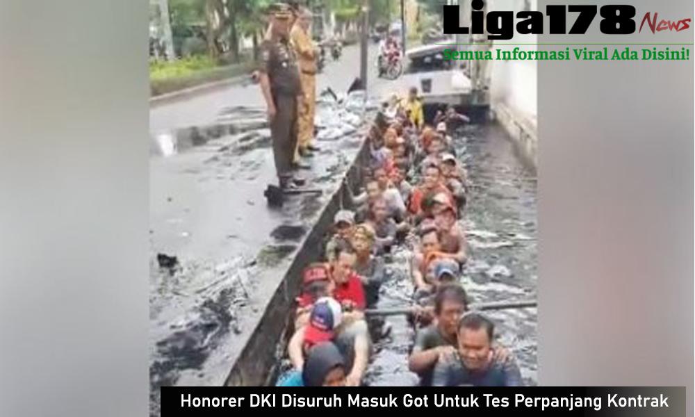 DKI Jakarta, Pegawai Negeri Sipil, Jelambar, Masuk Got, Perpanjang Kontrak, Liga178 News