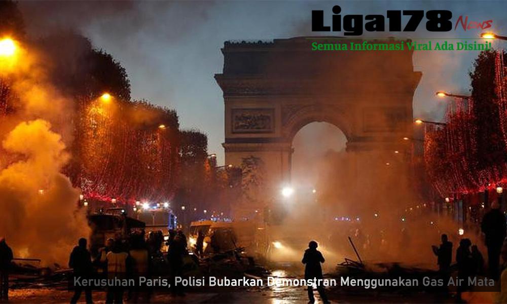 demonstari, prancis, paris, kepolisian, presiden macron