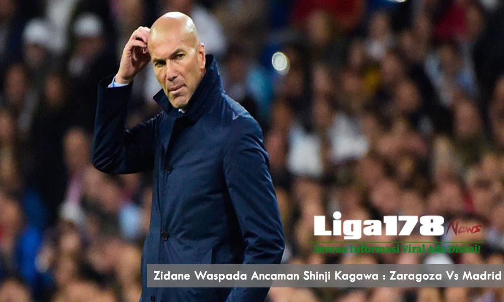 Zidane Waspada Ancaman Shinji Kagawa : Zaragoza Vs Madrid